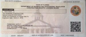 Florida Licensed General Contractor – GC1519003