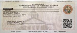 Licensed Mold Remediator – MRSR2344